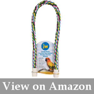 Wooden Bird Mirror Bird Stacking Color Ring Toy Parrot Chew Ball Foraing Toy Wooden Frame Perch Mirror Stand Platform Toys for Budgie Canary Cage